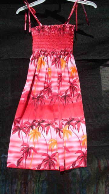 Busy Bees Hawaiian Dresses for keiki girls and junior girls-Sarong ...